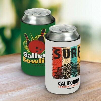 Full Colour 1 SIDE + 1 Col on 2nd Side STUBBY COOLER - FLAT PACK OPTION