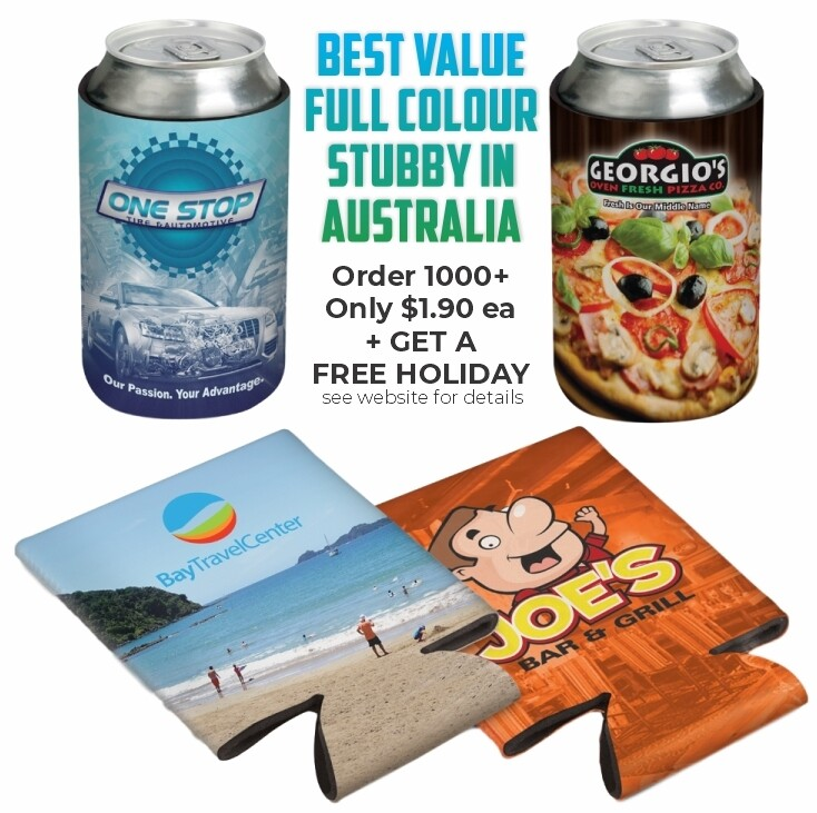 FLAT PACK Convenient Full Colour Stubby Cooler - SPECIAL PRICE