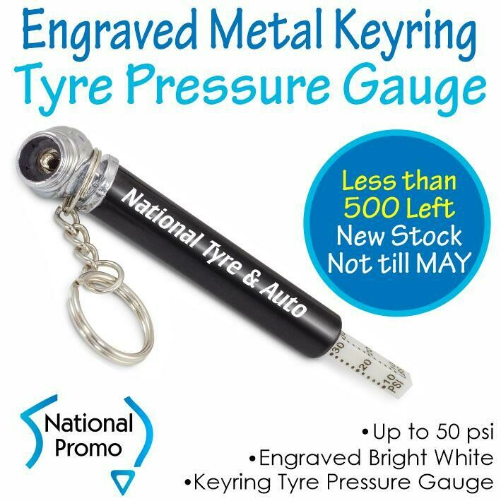 Engraved Metal Tyre Pressure Gauge Key Ring