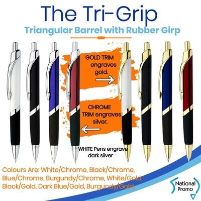 TRILOGY Tri-Grip Engraved Metal Corporate Pen