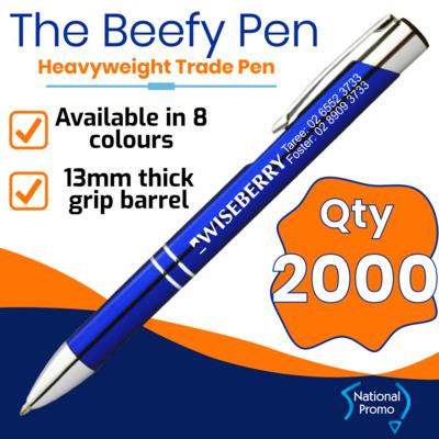 Qty 2000 - $0.84 ea plus gst BEEFY FLASH Metal Pen
