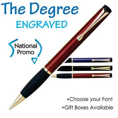 30 x THE DEGREE Engraved Metal Pen