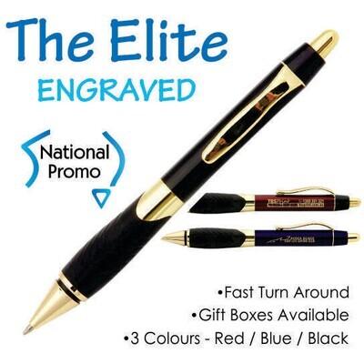 20 x ELITE Engraved Metal Pen