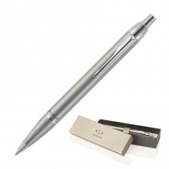 ENGRAVED PARKER PEN BRUSHED STAINLESS
