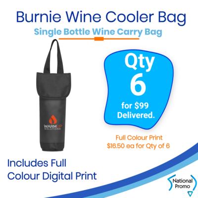 6x Burnie Single Wine Cooler Bags