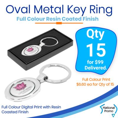 15x Oval Metal Key Ring
