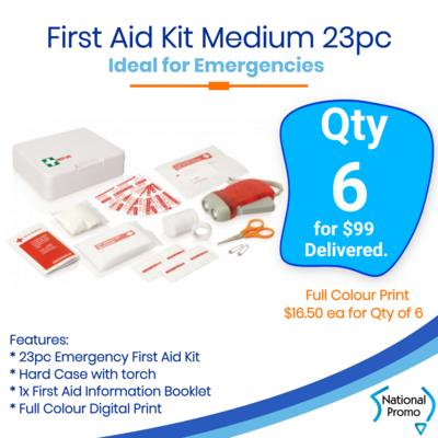 6x First Aid Kit Belt Medium 23 pc