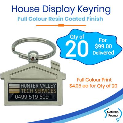 20x House Shaped Display Keyring