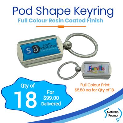 18x Pod Shape Display Keyring