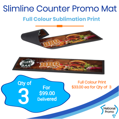 3x Slimline Counter Promo Mat