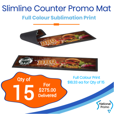 15x Slimline Counter Promo Mat