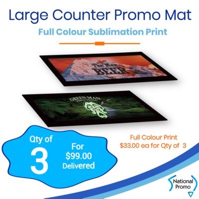 3x Large Counter Promo Mat