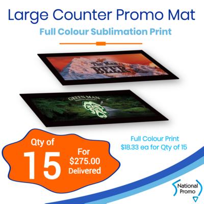 15x Large Counter Promo Mat