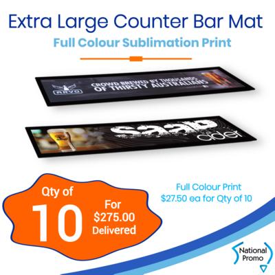 10x Extra Large Counter Promo Mat
