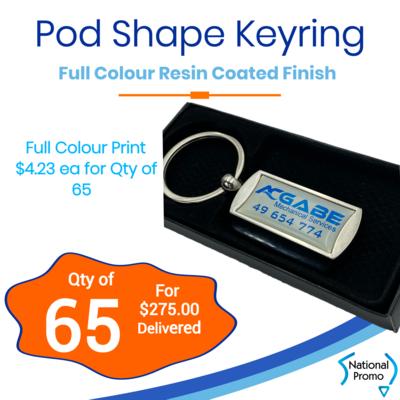 65x Pod Shape Display Keyring