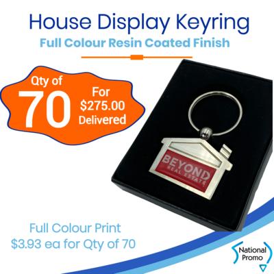 70x House Shaped Display Keyring