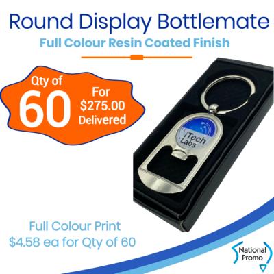 60x Round Display Bottlemate Keyrings