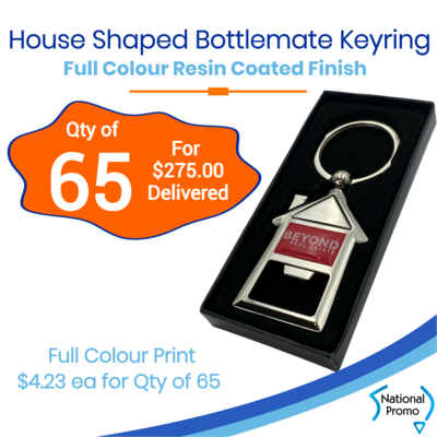 65x House Shaped Bottle Opener Keyring