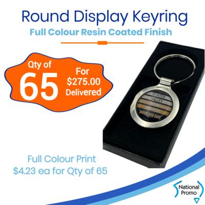 65x Round Display Keyring