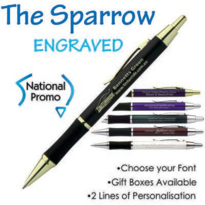 The Stanford Sparrow Engraved Metal Pen