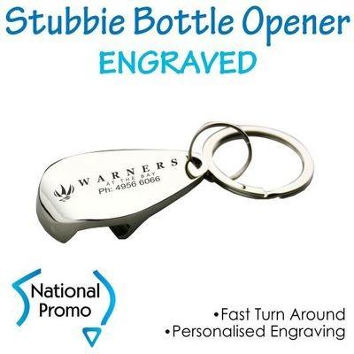 Stubbie Bottle Opener Keyring