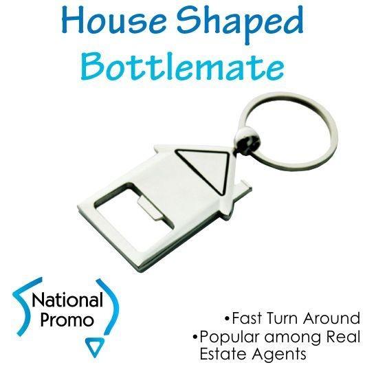 House Shape Bottle Opener Keyring