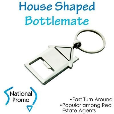 House Shape Bottle Opener Keyring