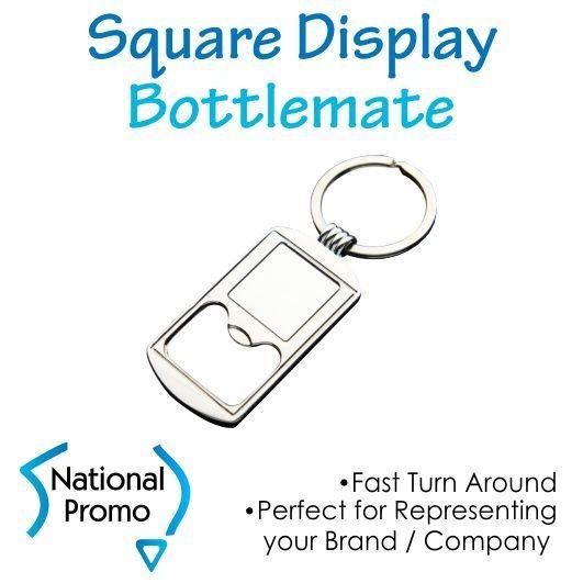 Square Display Bottle Opener Keyring