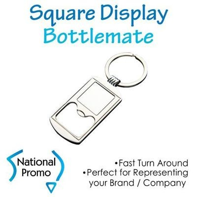 Square Display Bottle Opener Keyring