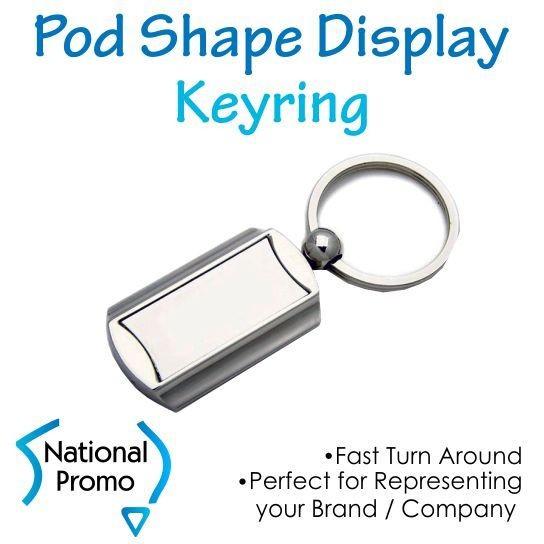 Pod Shape Display Keyring