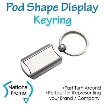 Pod Shape Display Keyring