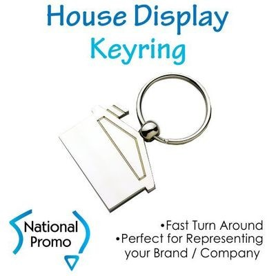 House Shape Display Keyring