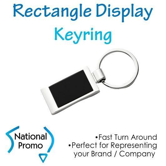 Rectangle Display Keyring