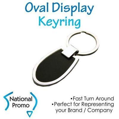 Two Tone Oval Display Keyring