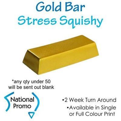Single Colour Print Gold Bar Squishy