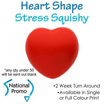 Single Colour Print Red Heart Squishy