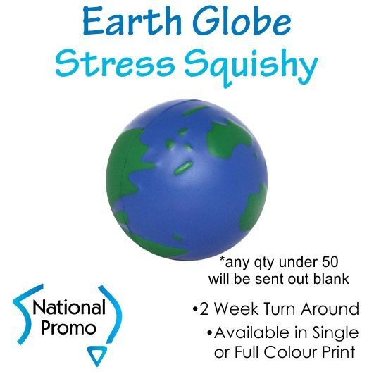 Full Colour Print Earth Globe Squishy