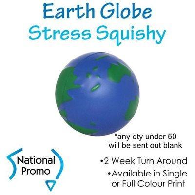 Single Colour Print Earth Globe Squishy
