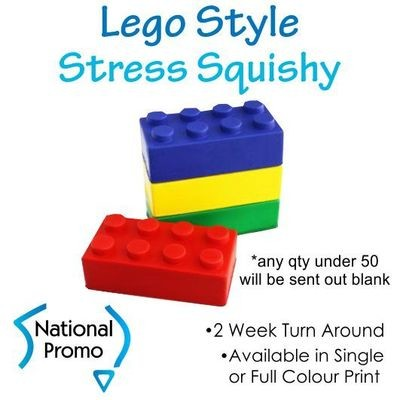 Single Colour Print Lego Style Squishy
