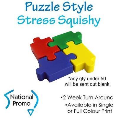 Single Colour Colour Print Puzzle Style Squishy