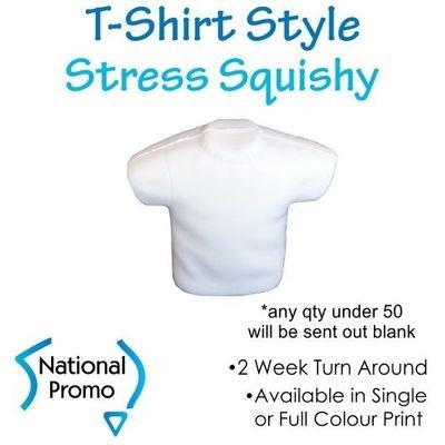 Full Colour Print T-Shirt Stress Squishy