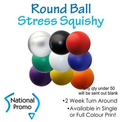 Single Colour Print Round Ball Stress Squishy