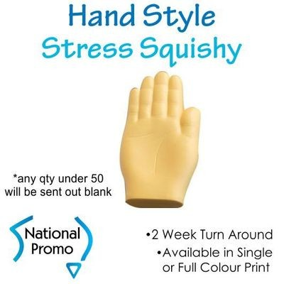 Single Colour Print Hand Style Stress Squishy