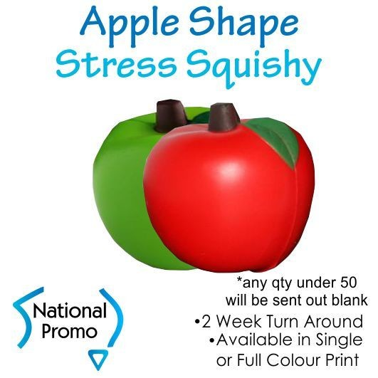 Single Colour Print Apple Fruit Stress Squishy