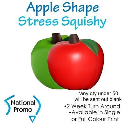 Single Colour Print Apple Fruit Stress Squishy