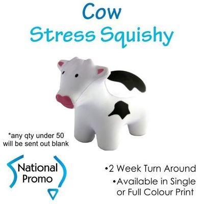 Full Colour Print Cow Stress Squishy
