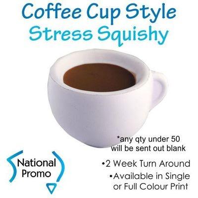 Single Colour Print Coffee Cup Stress Squishy