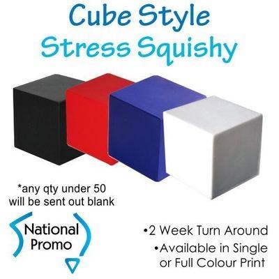 Full Colour Print Cube Stress Squishy