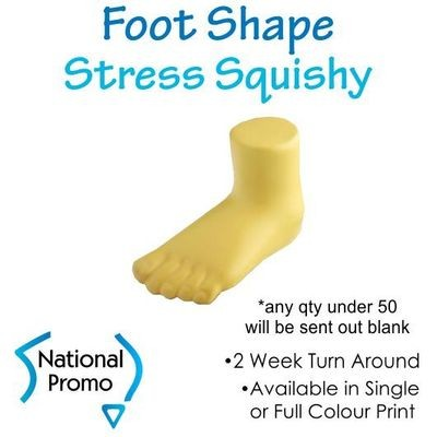 Full Colour Print Foot Shape Stress Squishy