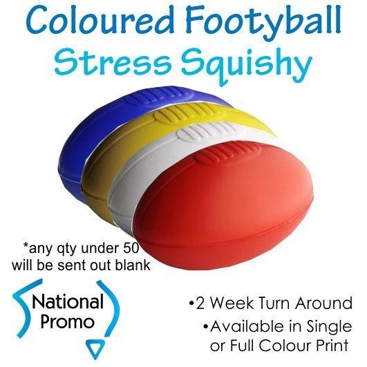 Full Colour Print Football Stress Squishy